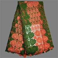 Excelente paño ropa calor patrón soluble en agua química africana del cordón para el vestido rrw4 (5 yardas/Lot) multi color
