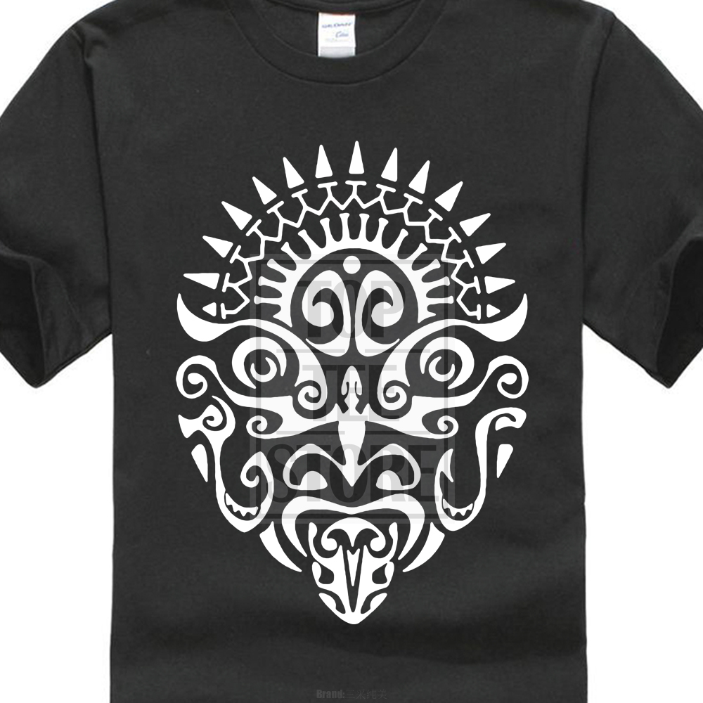 New Fashion MenS T Shirt Maori Warrior Tattoo Face New Zealand Haka Cool Fan T Shirt