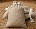 20*30cm 10pcs Vintage Style Jute Sacks Drawstring gift bags for jewelry/wedding/christmas/birthday Packaging Linen pouch Bags
