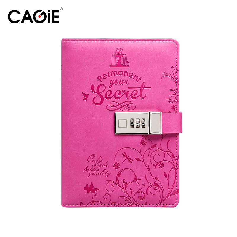 Diary with Lock Cagie Notebooks and Journals Soft Cover Leather Cute Notebook Lined Page Blank Paper Sketchbook Travel Journals diary with lock cagie cute diary cloth cover a7 mini notebook lined pages paper notebooks personal journal beautiful notepad