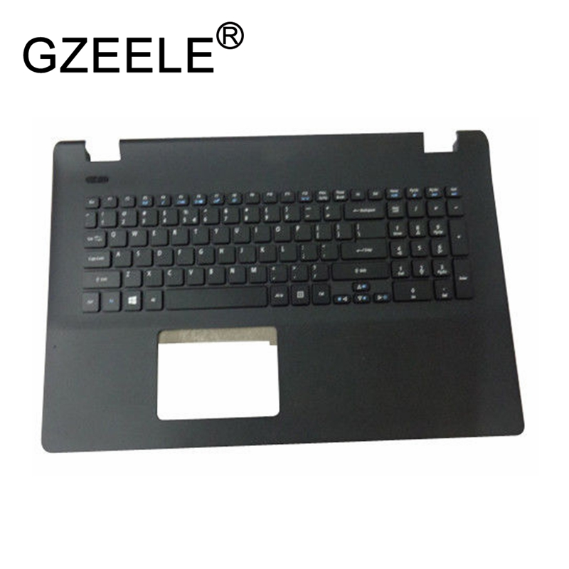 GZEELE new for Acer Aspire ES1-731 ES1-731G series Palmrest Top Case Assembly upper cover keyboard bezel 6B.MZTN7.028 Black new original laptop base lcd palmrest touchpad pour for acer aspire es1 es1 512 series black top cover c shell