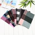 Hot 7Colors! Winter Luxury Europe Brand Plaid Cashmere Scarf Elderly Oversized Blanket  Long Wool Scarf Warm Pashmina Scarves