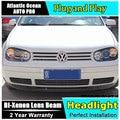 AUTO.PRO for vw golf 4 98-05 headlights Angel Eyes light + xenon lens LED car light H7 h1 led light car styling