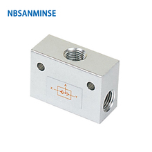 NBSANMINSE ST Shuttle Valve G Thread 1/8 1/4 3/8 1/2 3/4 1  Pneumatic Air Mechanical