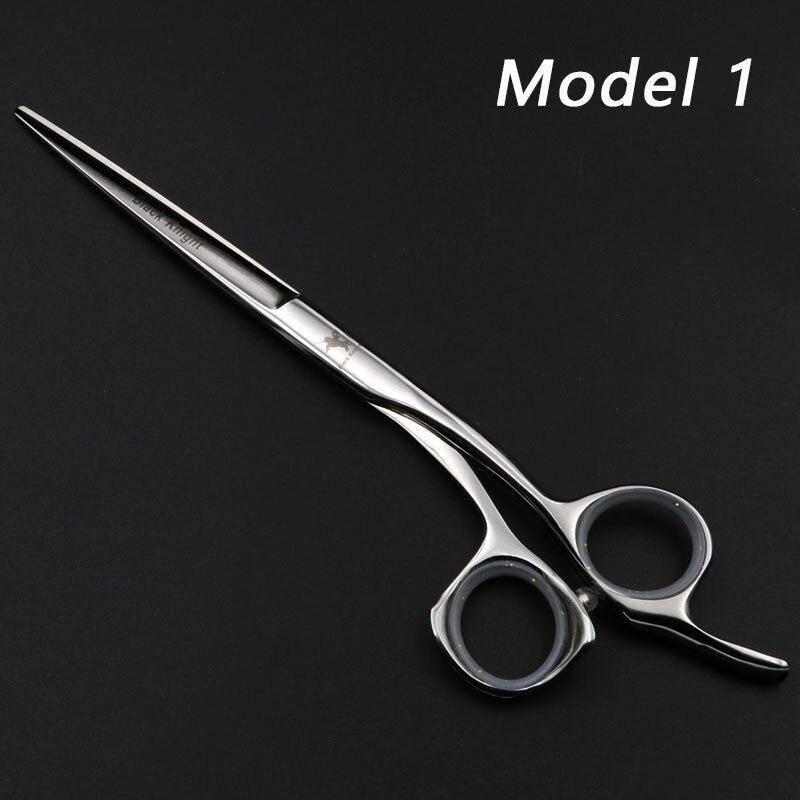 "Купить с кэшбэком Hair scissors 5.5""/6""/6.5"" Professional Hairdressing Scissors set Beauty Salon Cutting Barber's Shears Silver/Black"