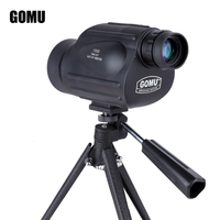 GOMU 13x50 binoculars multi layer green film coating waterproof HD high quality monocular telescope for camping free shipping