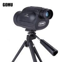 GOMU 13x50 binoculars multi layer green film coating waterproof HD high quality monocular telescope for camping free shipping
