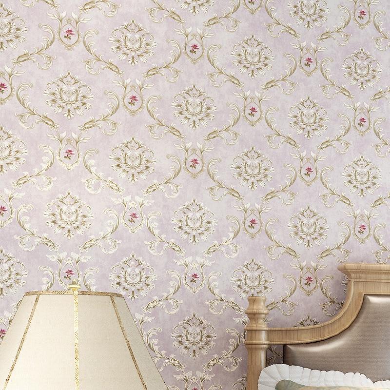 beibehang American Pastoral Retro Wallpapers European Style Flowers Elegant Wallpaper Nonwovens 3D Backdrop Walls beibehang european pastoral flowers