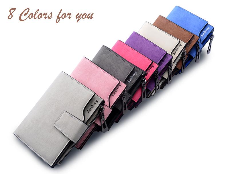 Porte Monnaie Femme en Cuir, 9 modèles de couleur différente.