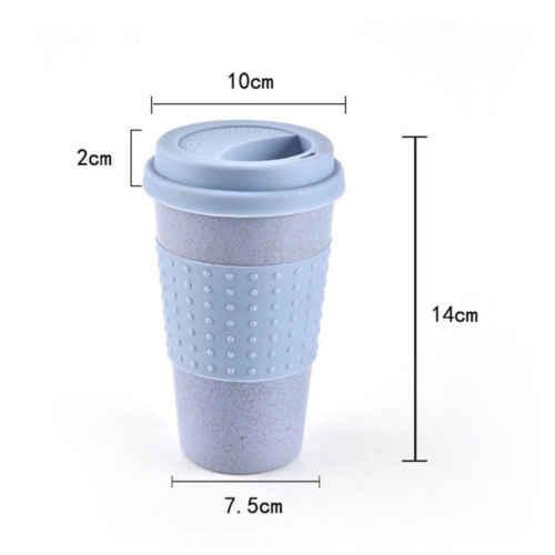 Tasse de thé café créative écologique | Tasse de thé, paille de blé, tasse de boisson d'eau de voyage avec couvercle en Silicone nouveau
