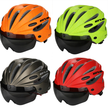 цена на GUB Bicycle Helmet Mountain Road Bike Cycling Safety Helmet Cap Hat Helmet With Visor Len Glasses Ultralight Adjustable K80 PLUS