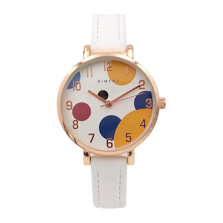 Contracted children's color dial schoolgirl fashion waterproof electronic quartz watch(China)