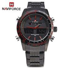 Naviforce 9024 hombres relojes de cuarzo de acero llena de marcas de lujo reloj llevado digital del ejército militar reloj del negocio del deporte del relogio masculino