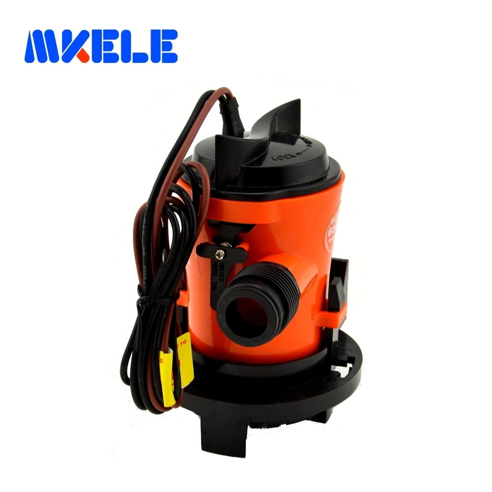 MKBP1-G350-03 3/4 hose 12V Submersible Fishing Boat Bilge  Water Pump 350 GPH with Retail Box and Manuel Free Shipping
