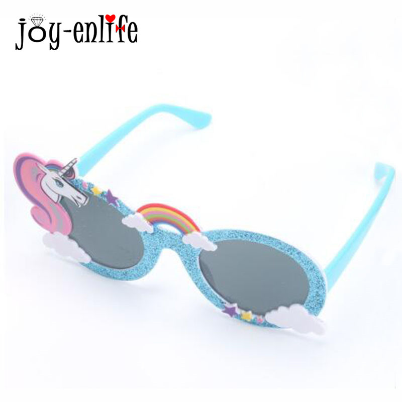 1pc Shiny Blue Sunglasses Unicorn Funny Party Mask Costume Glasses Photobooth Props Wedding Supplies Decoration