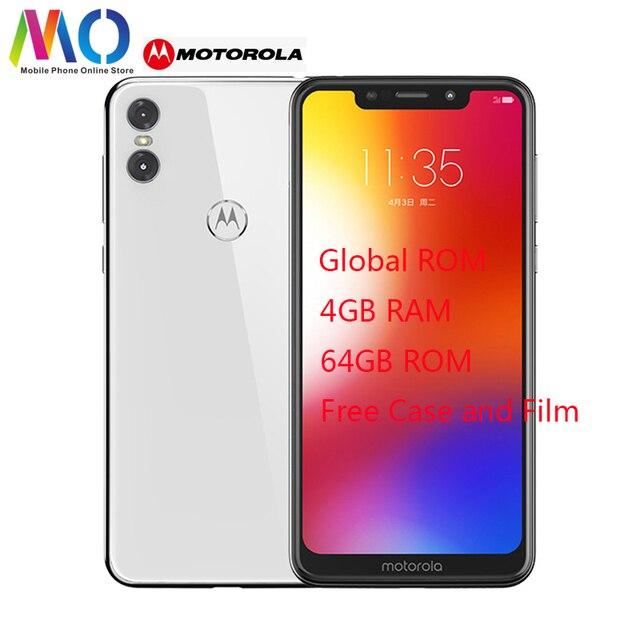 Глобальный Motorola MOTO P30 играть мобильный телефон 4 Гб Оперативная память 64 Гб Встроенная память 5,86 дюйма 4G LTE Snapdragon 625 Восьмиядерный отпечаток пальца ID смартфон
