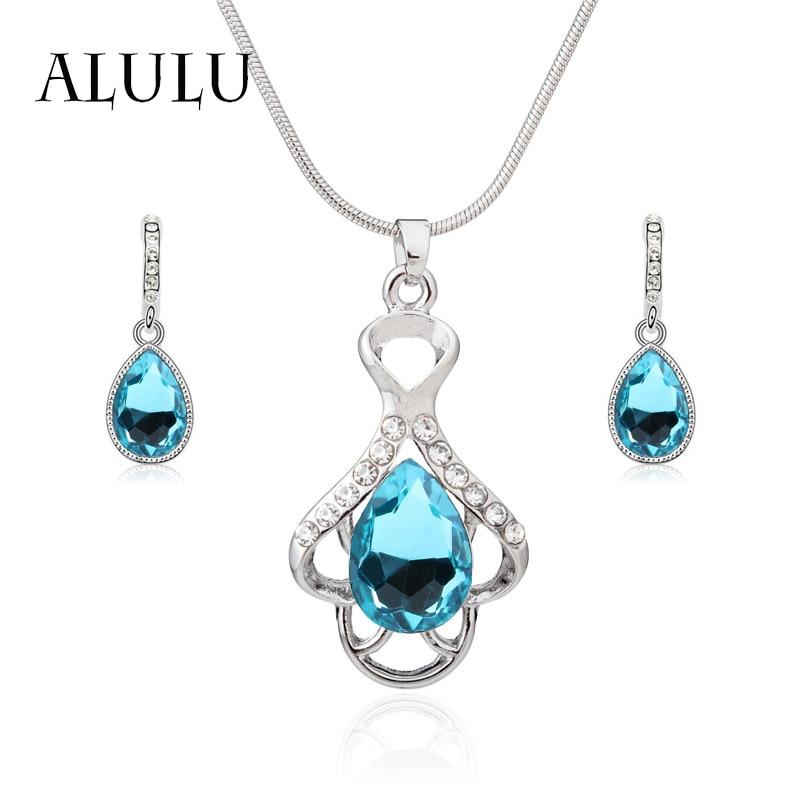 ALULU 7 barevný křišťál dámský náhrdelník náušnice šperky - Bižuterie