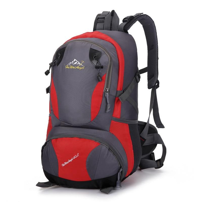 40L Large capacity Mountaineering bag Waterproof Nylon Backpack Rucksack Men's Travel Bags bagpack 6colors bolsos mujer bolsa