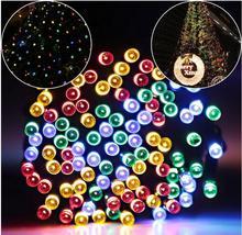 цена на 22 M 200 LED Solar String Fairy Lights Premium Kwaliteit Waterdichte LederTek Zonne-energie 8 Modi Zonne-verlichting Voor Tuin d