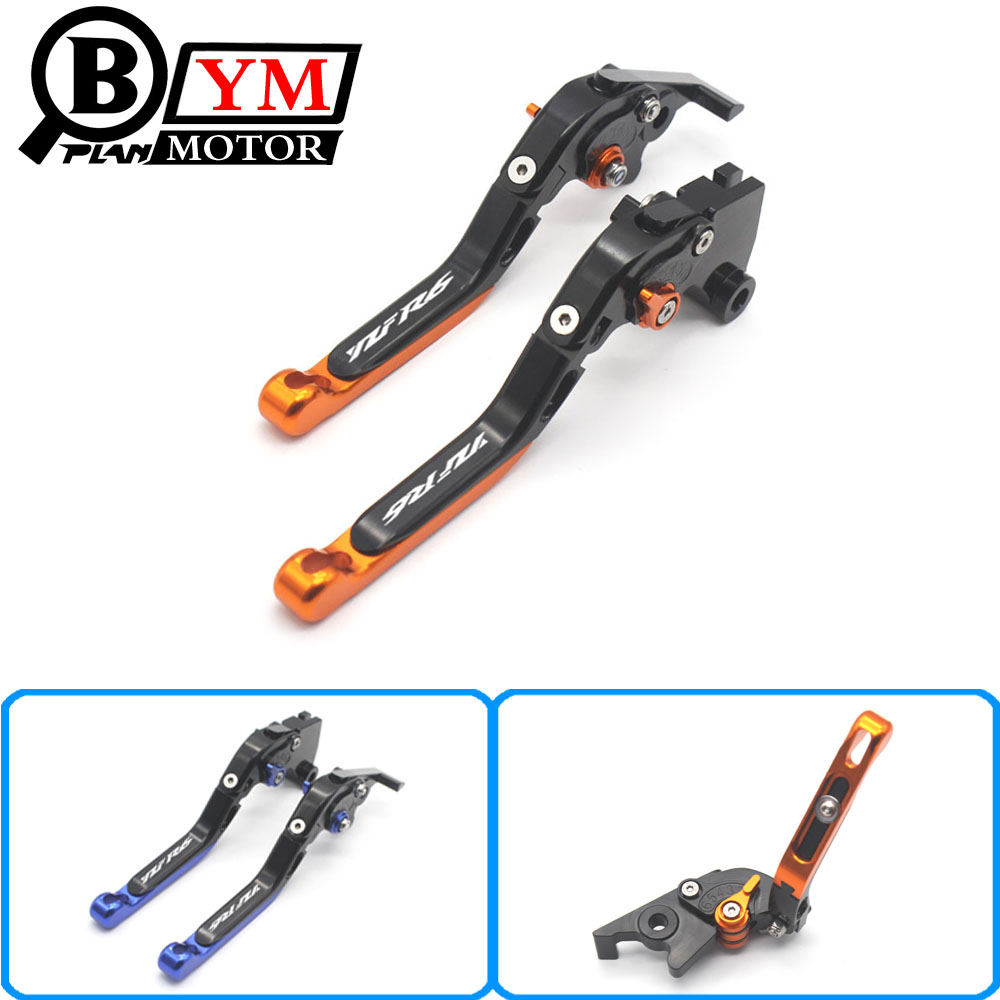Motorcycle Adjustable Brake Clutch Levers For Yamaha YZF R6 YZFR6 2005-2016 2006 2007 2008 2009 2010 2011 2012 2013 2014 2015 motorcycle fender eliminator tidy tail for yamaha yzf r1 yzf r1 yzfr1 2004 2005 2006 2007 2008 2009 2010 2011 2012 chrome