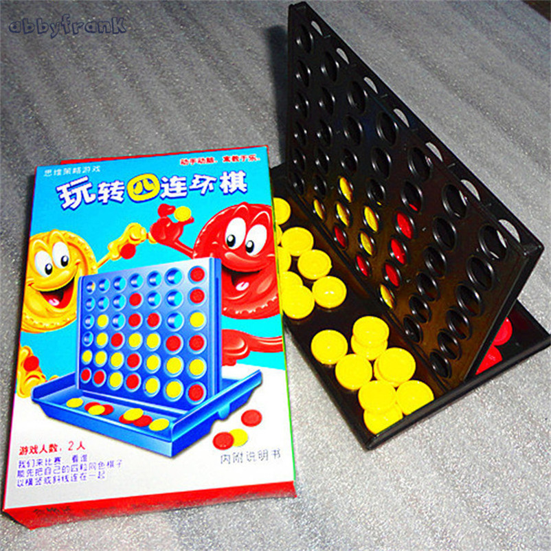 Abbyfrank Plastic Vertical Connect 4 Four Chess Easy To Carry Chess Family Game Educational Toys For Kids Birthday Gifts Juguete
