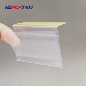 Plastic PVC Shelf Data Strips by Adhesive Tape Mechandise Price Talker Sign Display Label Card Holder on Store Rack 5000pcs