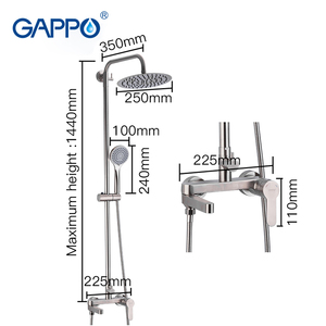 Image 4 - GAPPO shower faucets stainless steel bathroom shower waterfall faucet bathroom Rainfall shower set basin faucets torneira