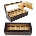 Luxus 5 Slots Handgemachte Holz Uhr Box Holz Uhr Box Uhr Fall Zeit Box für Uhr Halten