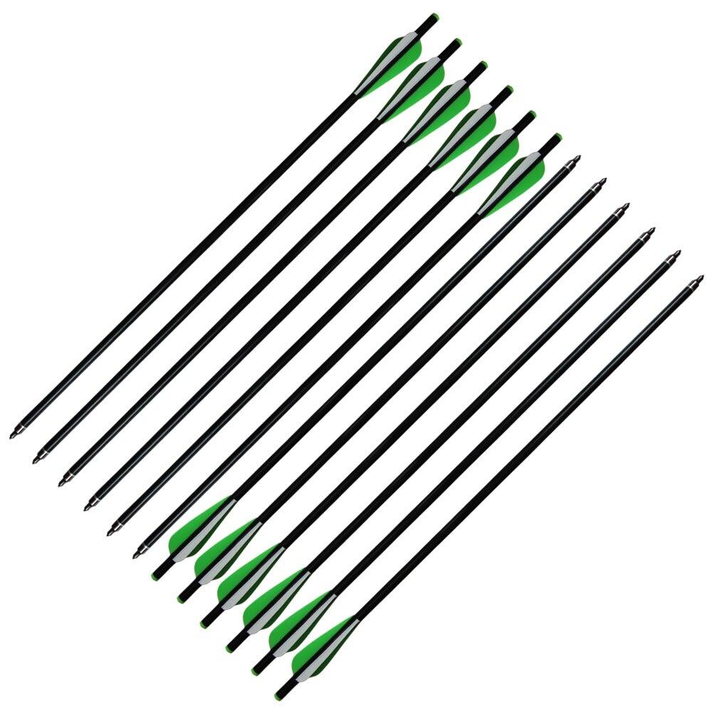 N12 pz 20 frecce da balestra frecce in fibra di vetro con vite on 12 pz 20 frecce da balestra frecce in fibra di vetro con vite onoff punte piatto cocca per 120lb balestra fandeluxe Gallery