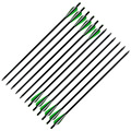 12Pcs 20 Crossbow Bolts Fiberglass Arrows with Screw on/off Tips Flat Nock for