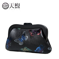 TMSIX New women genuine leather bag famous brands fashion Luxury Butterfly embossed handbag women Clutch bag women bags