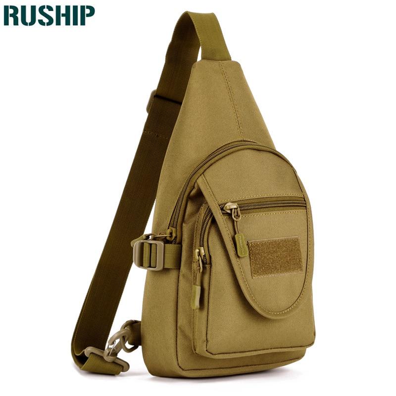 Shoulder Tactical Bag for Men Nylon Chest Sling Pack One Single Shoulder Travel Military Messenger Bag