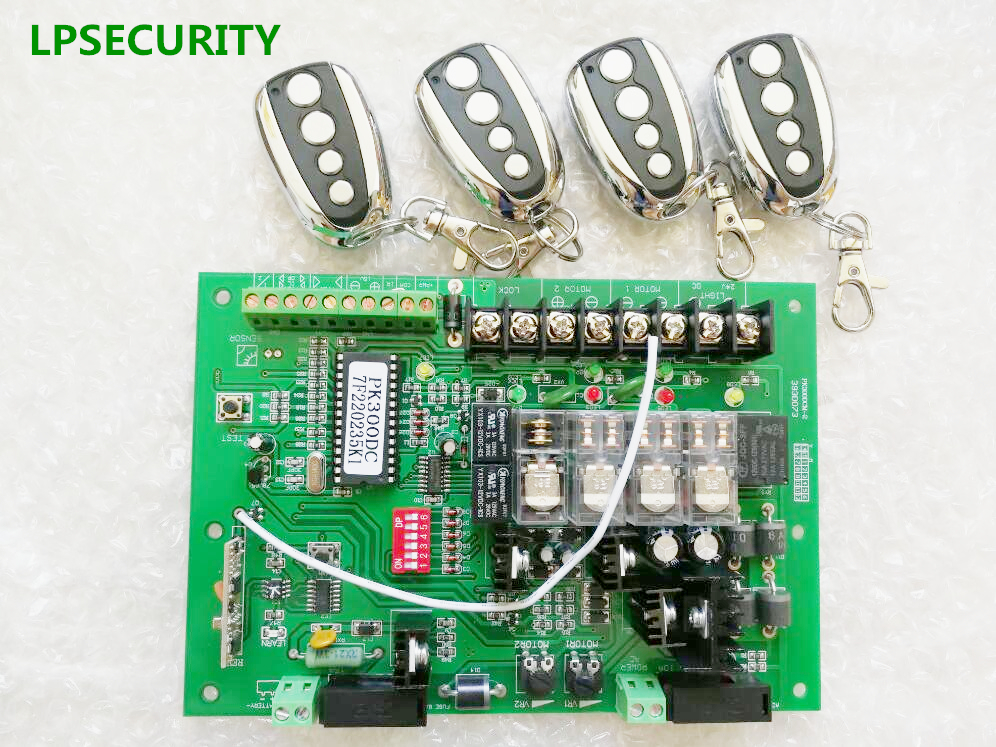 LPSECURITY remote control optional circuit board motherboard PCB card for swing gate opener motor 24VAC/DC power input PK300DC cs3310 remote preamplifier board with vfd display 4 way input hifi preamp remote control digital volume control board