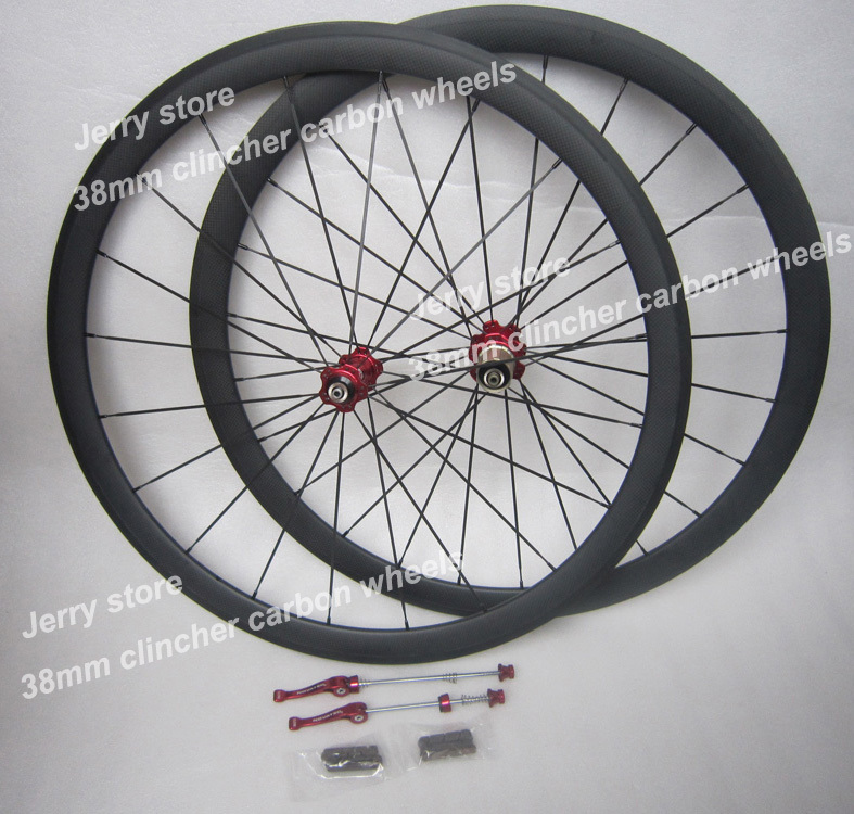 ultra light 38mm clincher carbon bicycle wheels 700c carbon fiber road bike racing wheelset NOVATEC HUB  flat spokes 20/24 Holes far sports carbon wheels 50mm clincher 23mm wide with novatec hub and sapim spokes novatec carbon wheels fsc50cm 23 700c