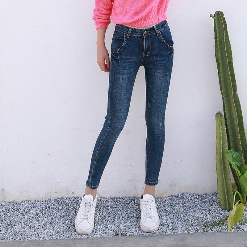 GECADYNY NEW fashion brand women skinny pencil jeans denim elastic pants washing color good quality women casual jean pants