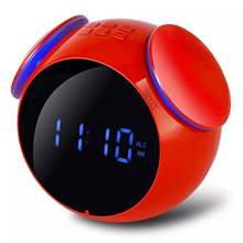 Mini Bluetooth Audio Function Speakers 4.2 Protocol MP3 Cards Mirror Display Alarm Clock FM Radio Wireless Free Alarm Setting(China)