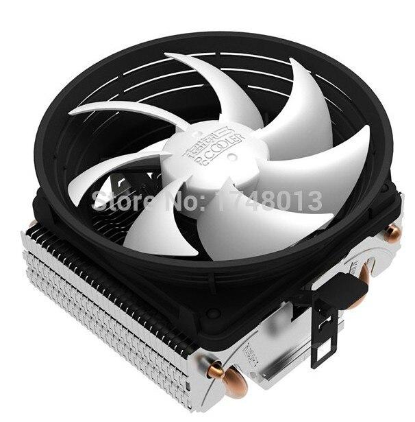 PcCooler Q102 95 W 10 cm ventilateur 2 caloducs De Refroidissement pour Intel LGA1151 775 1150 pour AMD AM3 +/FM1/FM2 refroidisseur pour CPU ventilateur radiateur