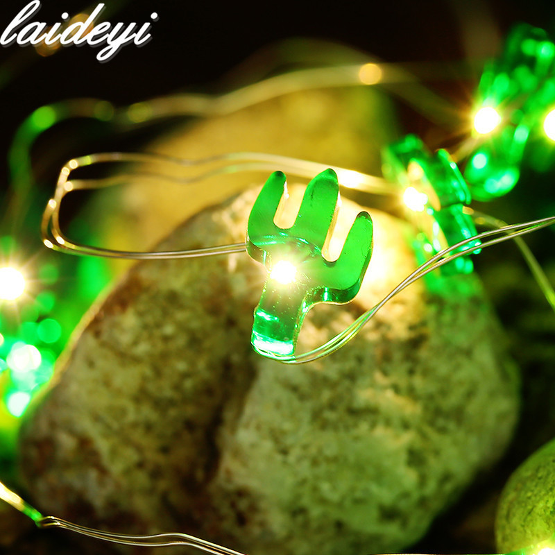 Led Lighting Loyal 50led Fairy Cactus Potted Plants Battery Operated String Light Luminaria 5m Led Decor For Christmas Garland Wedding Gerlyanda Special Summer Sale
