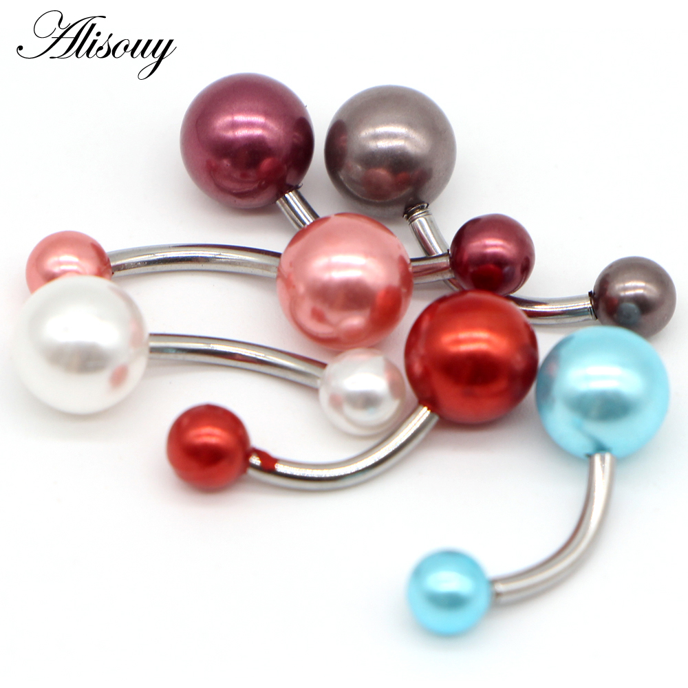 PIERCING NOMBRIL ACRYLIQUE UV BALL BELLY NAVEL RING BAR BUTTON JEWELRY