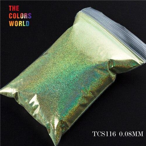 TCT-070 голографическая цветная устойчивая к растворению блестящая пудра для дизайна ногтей Гель-лак для ногтей тени для макияжа - Цвет: TCS116  200g