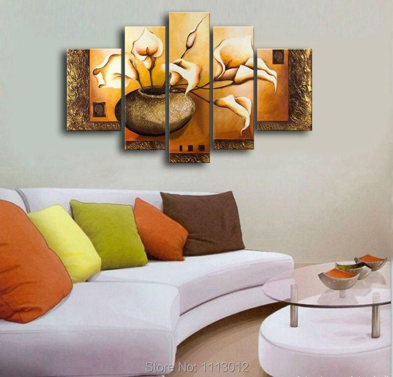 100% ručno oslikana 5 komada set visokokvalitetnog žutog noža - Kućni dekor - Foto 3