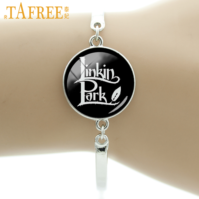TAFREE Hot Linkin Park Pattern Bracelets 2017 Wholesale fashion bracelet charm Friendship women accessories jewelry LK06