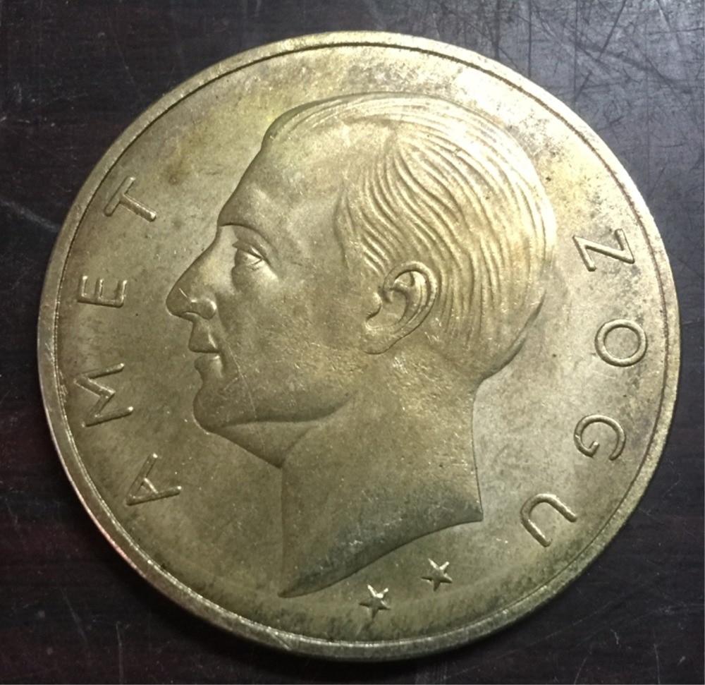 1926 Albania 100 Franga Ari-Zog I Gold Copy Coin