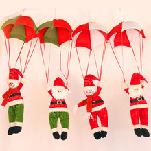 The New Christmas Charm Decorations For Home Parachute Santa Claus Christmas Snowman Ornaments Festival Gift