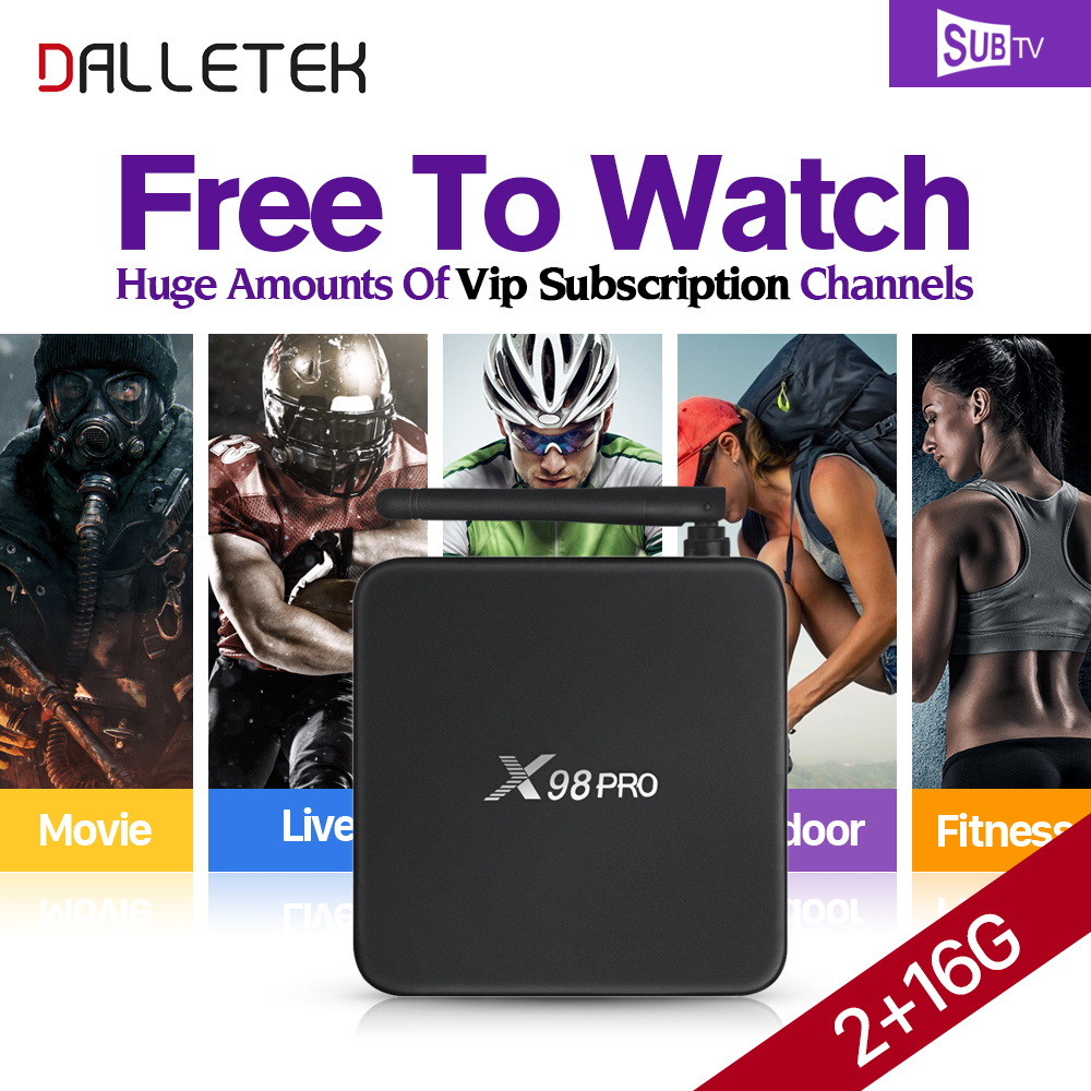 DalletektX98PRO Smart Android 6.0 TV Box S912 IPTV Set Top Box with 3500+ HD iptv Abaric iptv Europe Subscription 1 year Account