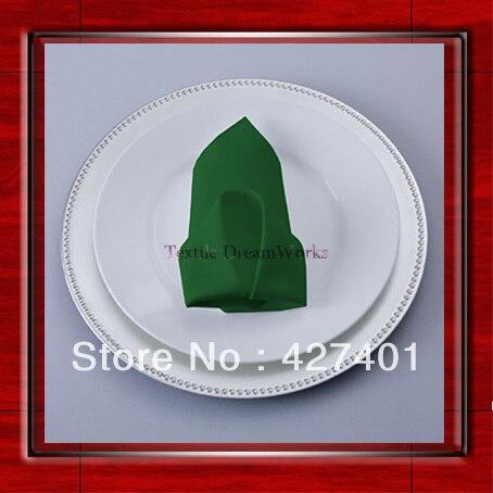 High Quality 50x50cm Moss Polyester Plain Napkin / Table Napkin / Hotel Napkin / Dinner Napkin (Factory Direct Sale)