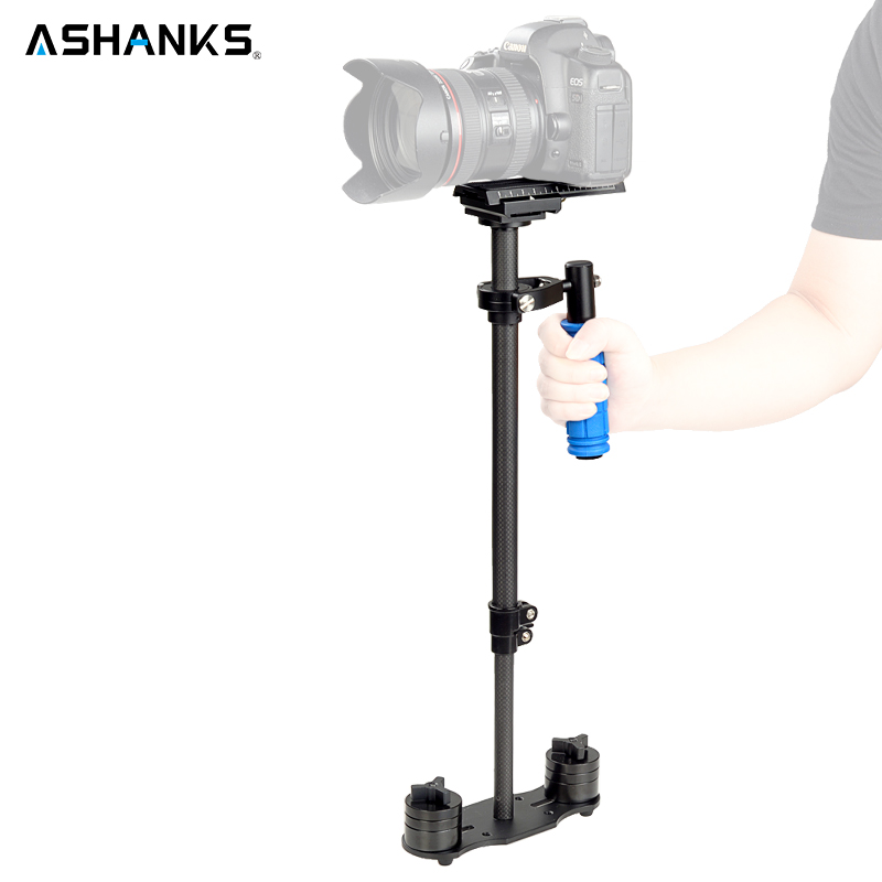 ASHANKS Mini Carbon Fiber Handheld Stabilizer/Steadycam/Steadicam for Photography Camera Video Studio DSLR DV Nikon/Canon/Sony ashanks hd2000 handheld stabilizer for camcorders slr dslr 7d 600d 700d d5200 d3200 video camera