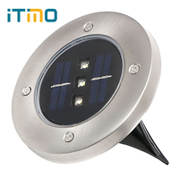 ITimo LED Solar Light Green Blue White 3 Leds Solar Powered Garden Lawn Light Energy Saving