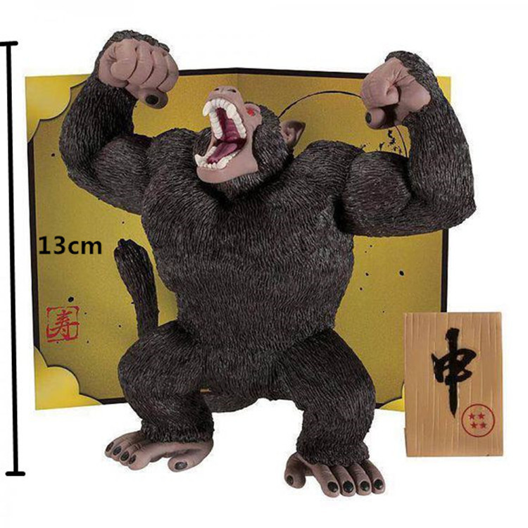 Anime Dragon Ball Z Banpresto Son Gokou King Kong PVC Action Figure Collectible Model Toy 14cm KT1879 anime 15cm dragon ball z action figure toys 5 9inch collectible son gokou figure models anime brinquedos christmas gifts doll
