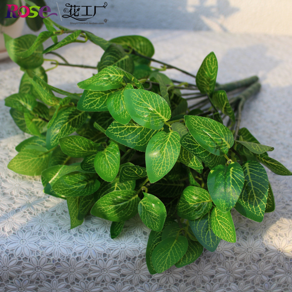 6pcs fake green plants 30cm/11.81 inches artificial greenery plant